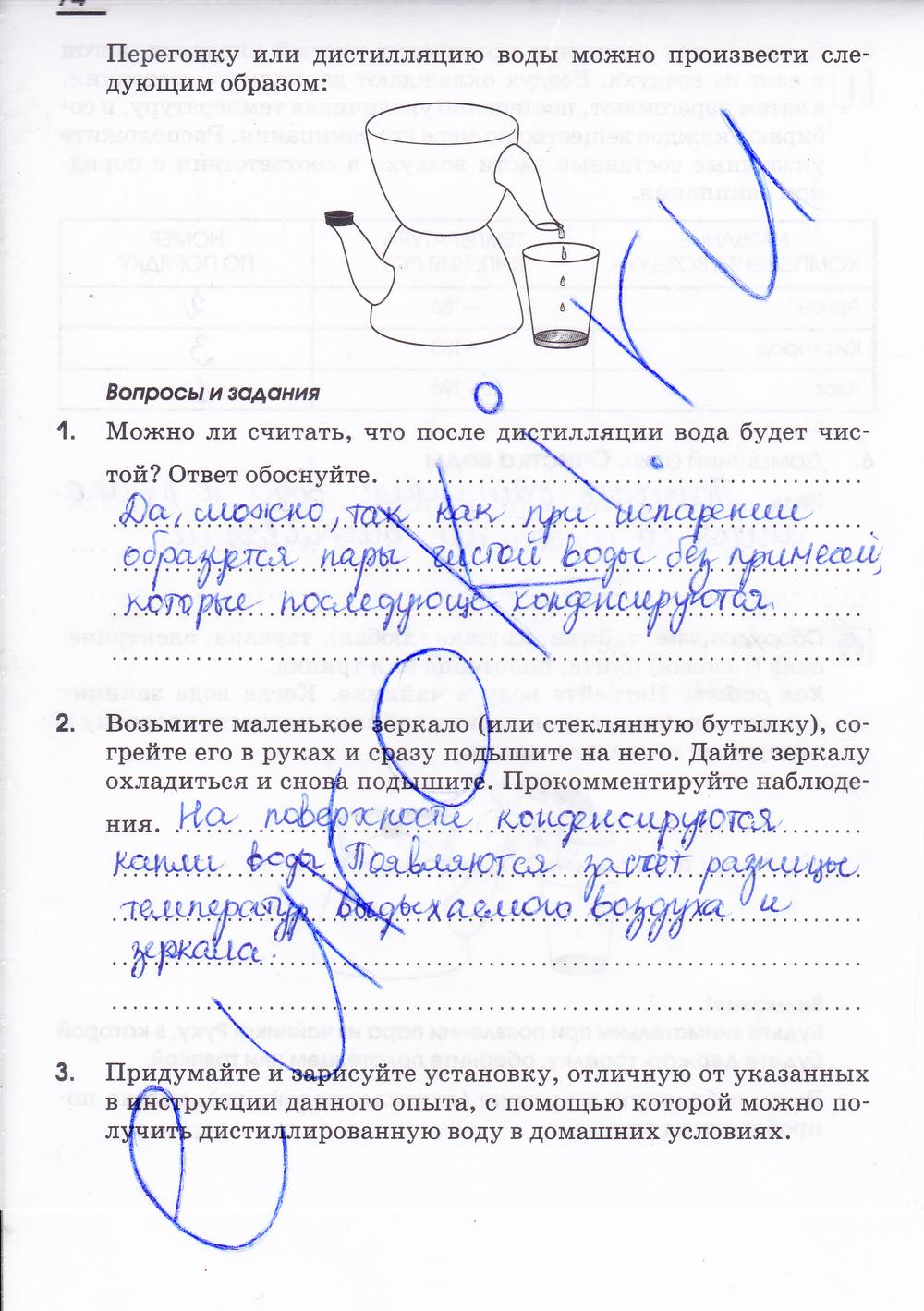 Гдз в рабочей тетради по химии 7 класс