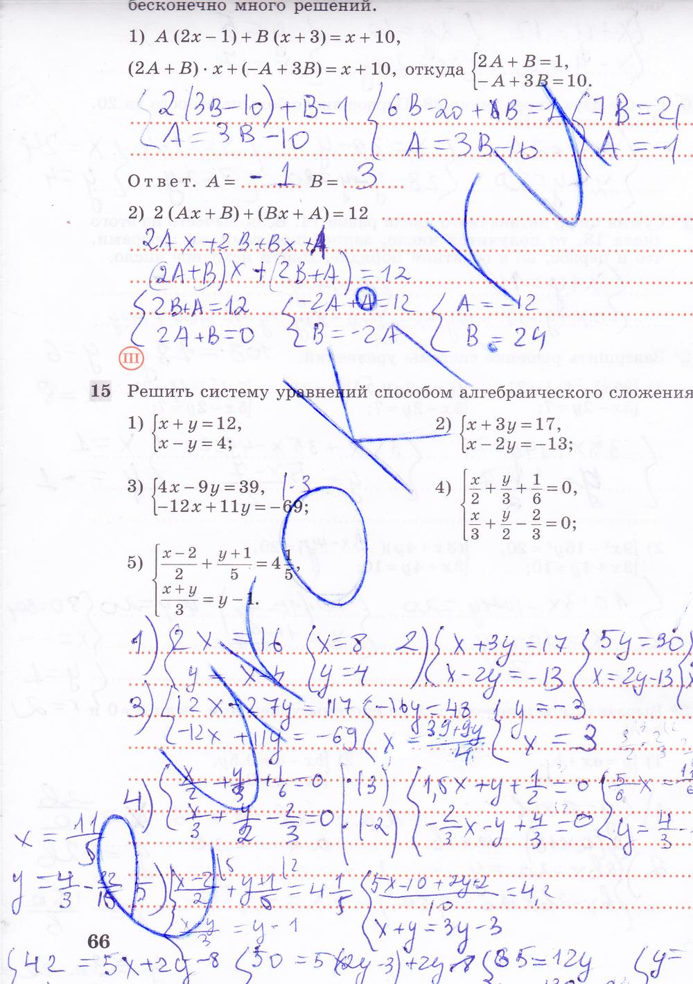 Тетрадь класс гдз по за алимов рабочая алгебре 7
