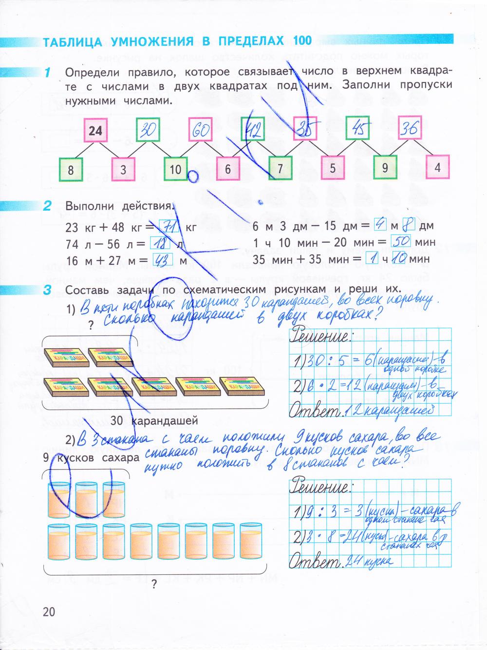 часть 6 тетрадь рабочая 2 класса по математике решебник дорофеев
