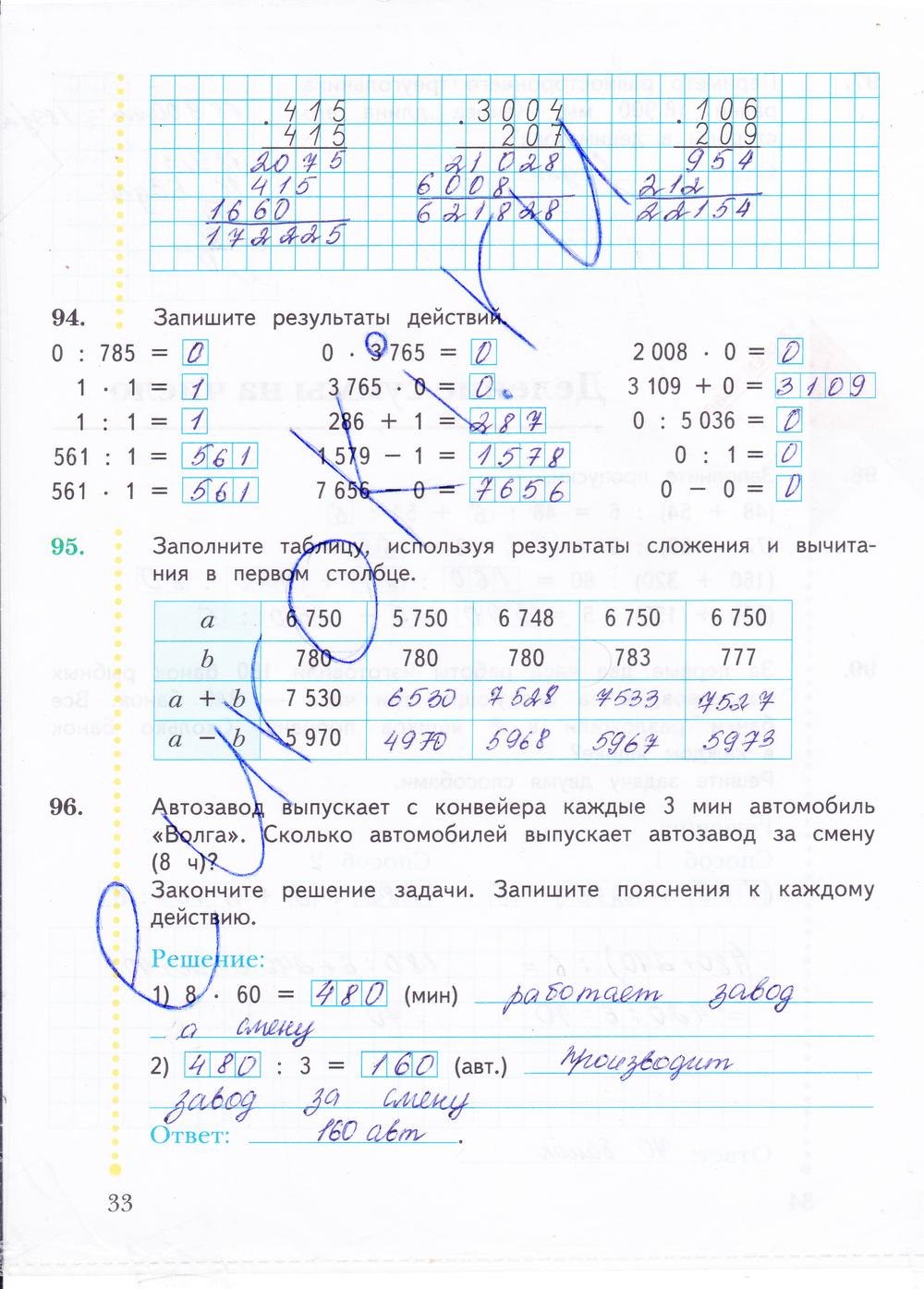 Юдачева тетрадь рудницкая класс математике 4 рабочая 2 гдз по часть
