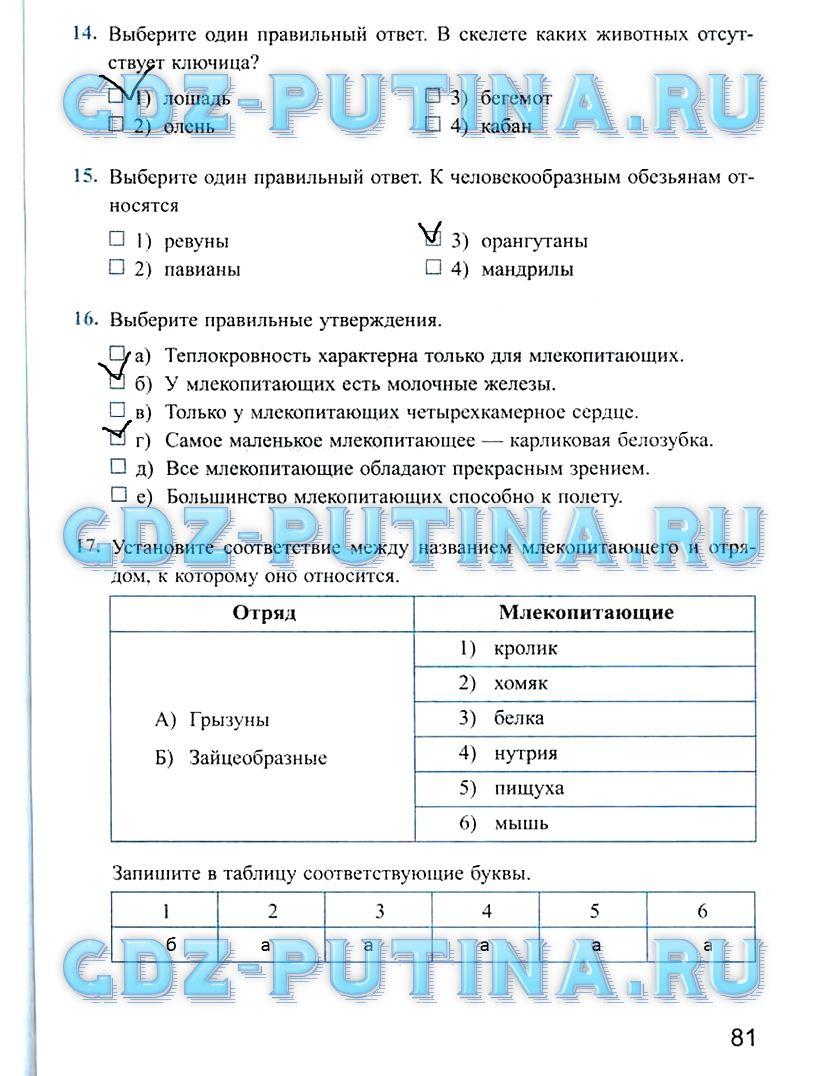Гдз По Биологии 7 Класс Никишов Шарова Таблица