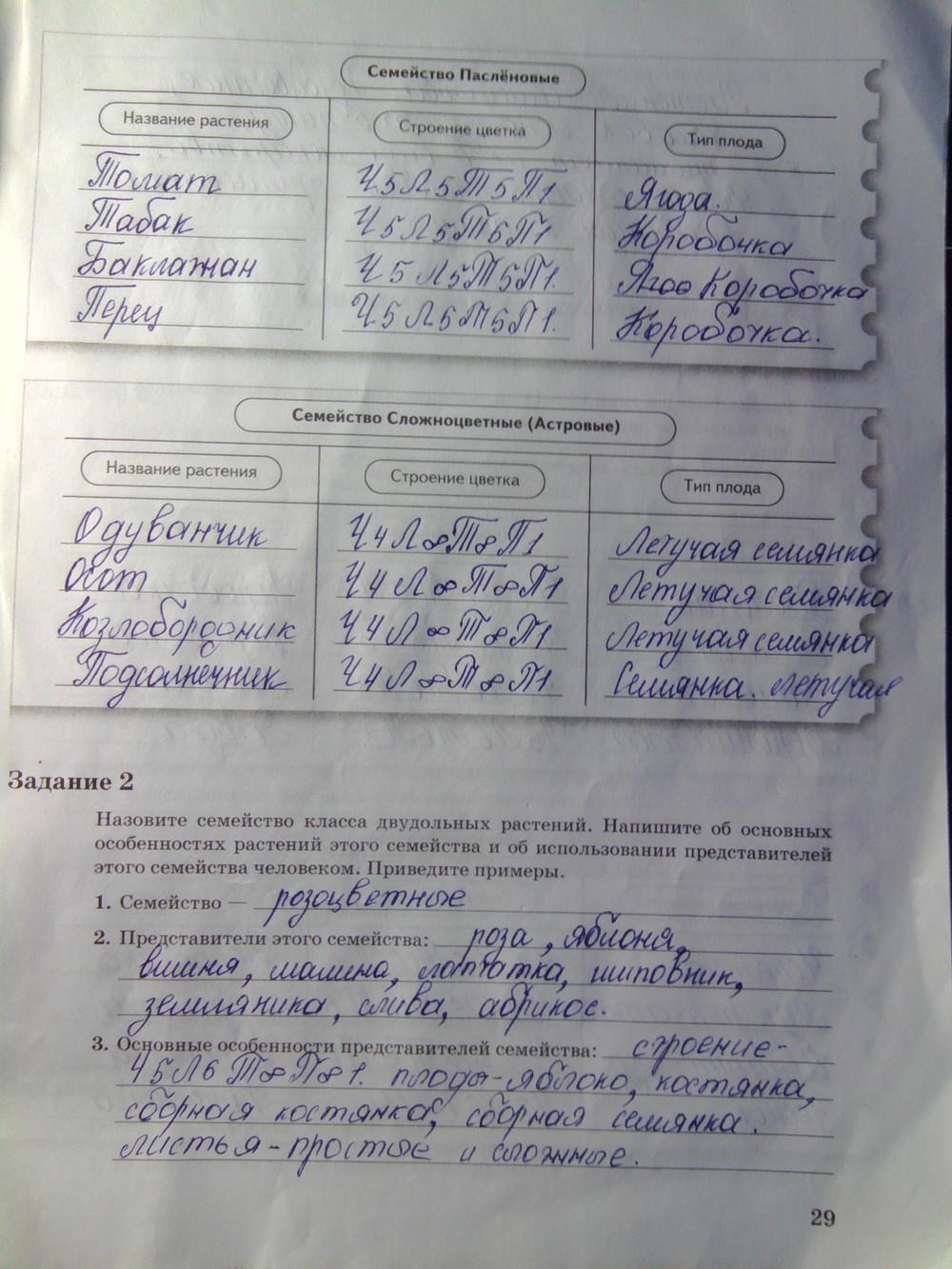 гдз по рабочей тетради биология 9 класс пономарева