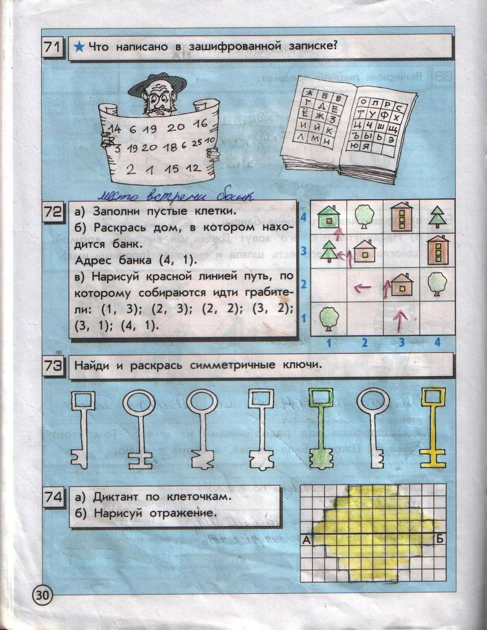 Ответы гдз информатика класс 2 часть 1