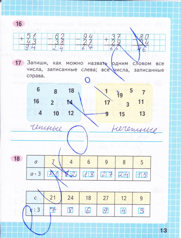 Готовое домашнее задание по математике 3 класс моро 1 часть тетрадь
