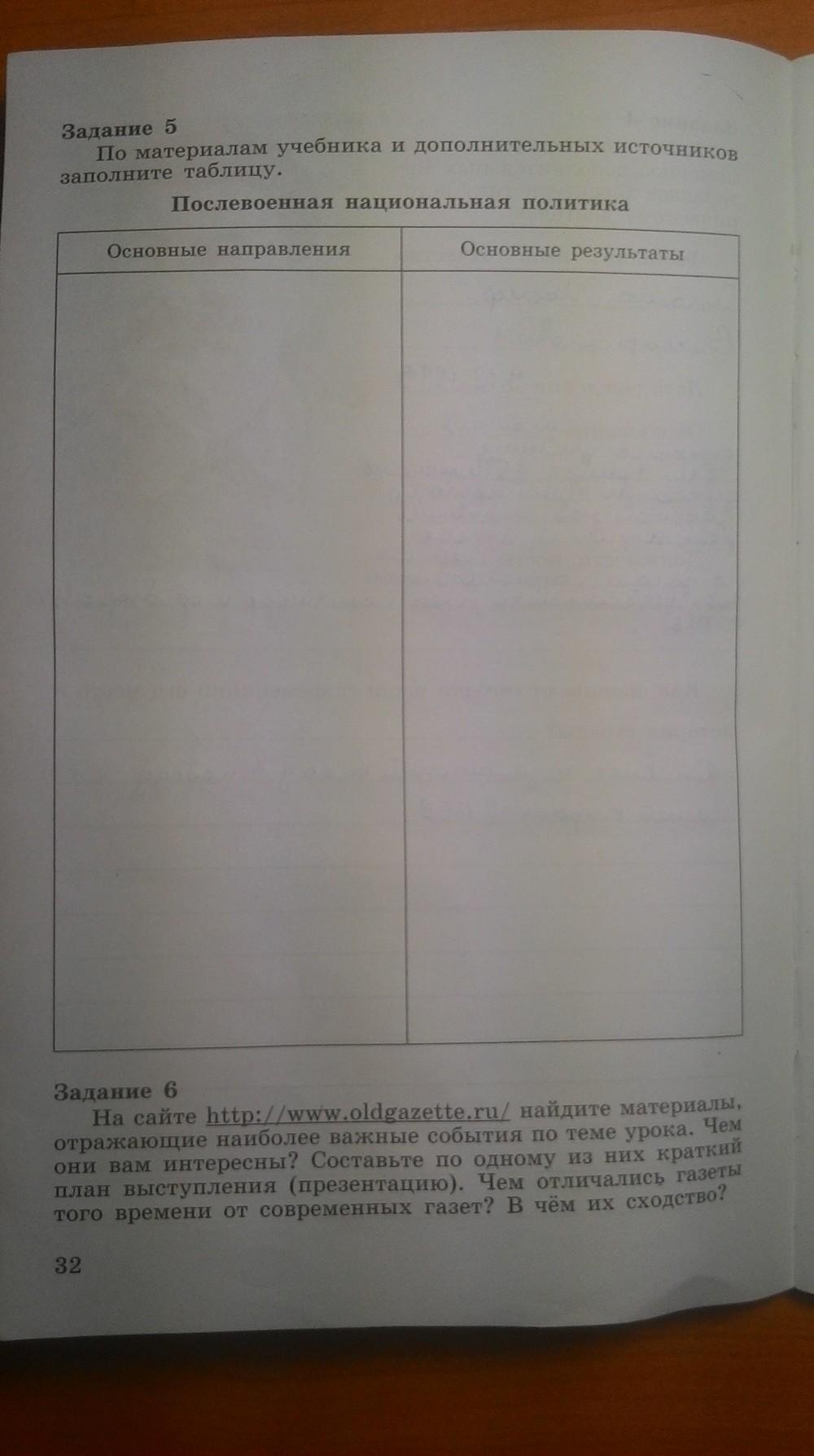 история решебник класс данилов тетради по 9