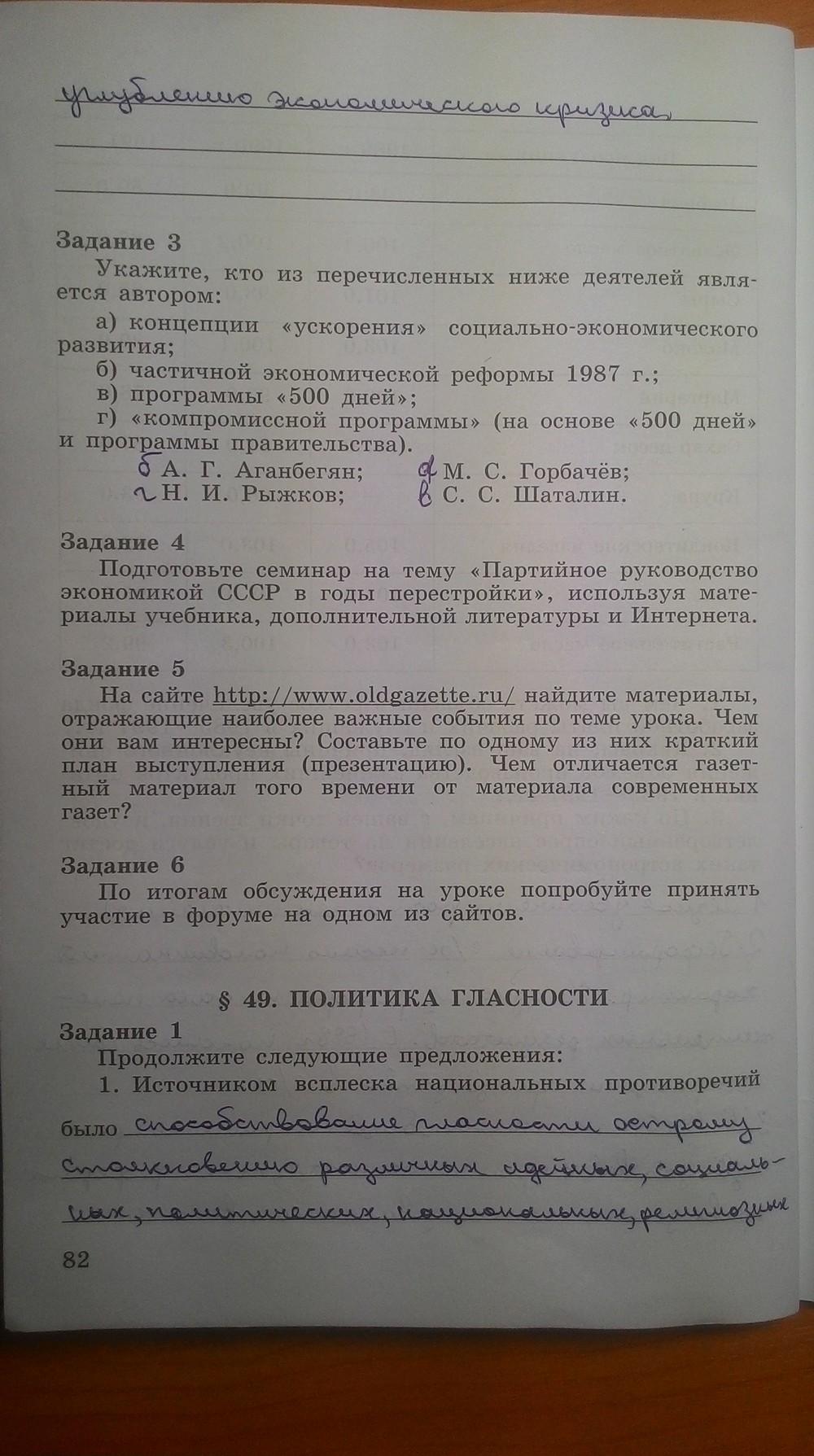 Решебник По Историй Рабочая Тетрадь 9