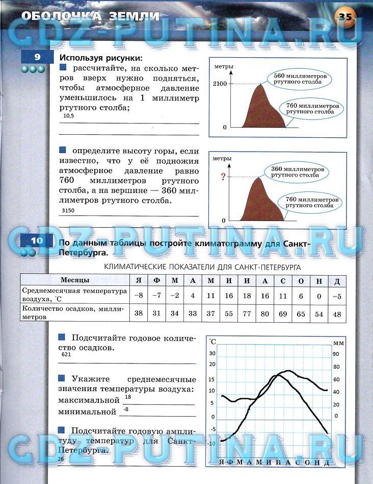 По лобжанидзе 5-6 2 тетрадь гдз класс тренажер географии