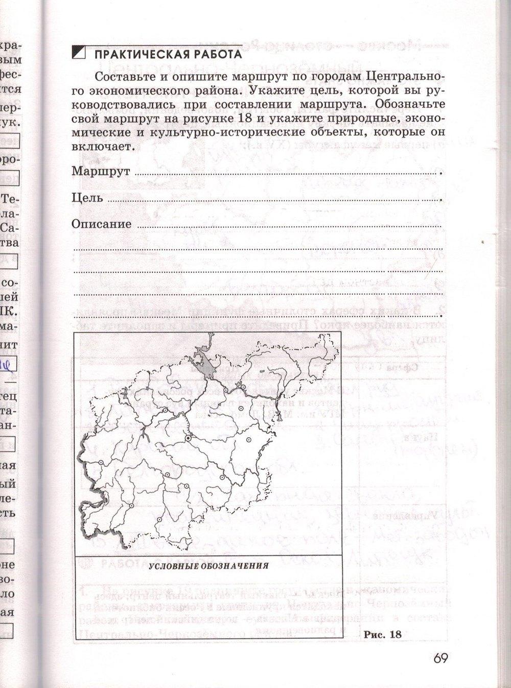 класс по тетрадь 9 рабочая ким география географии гдз