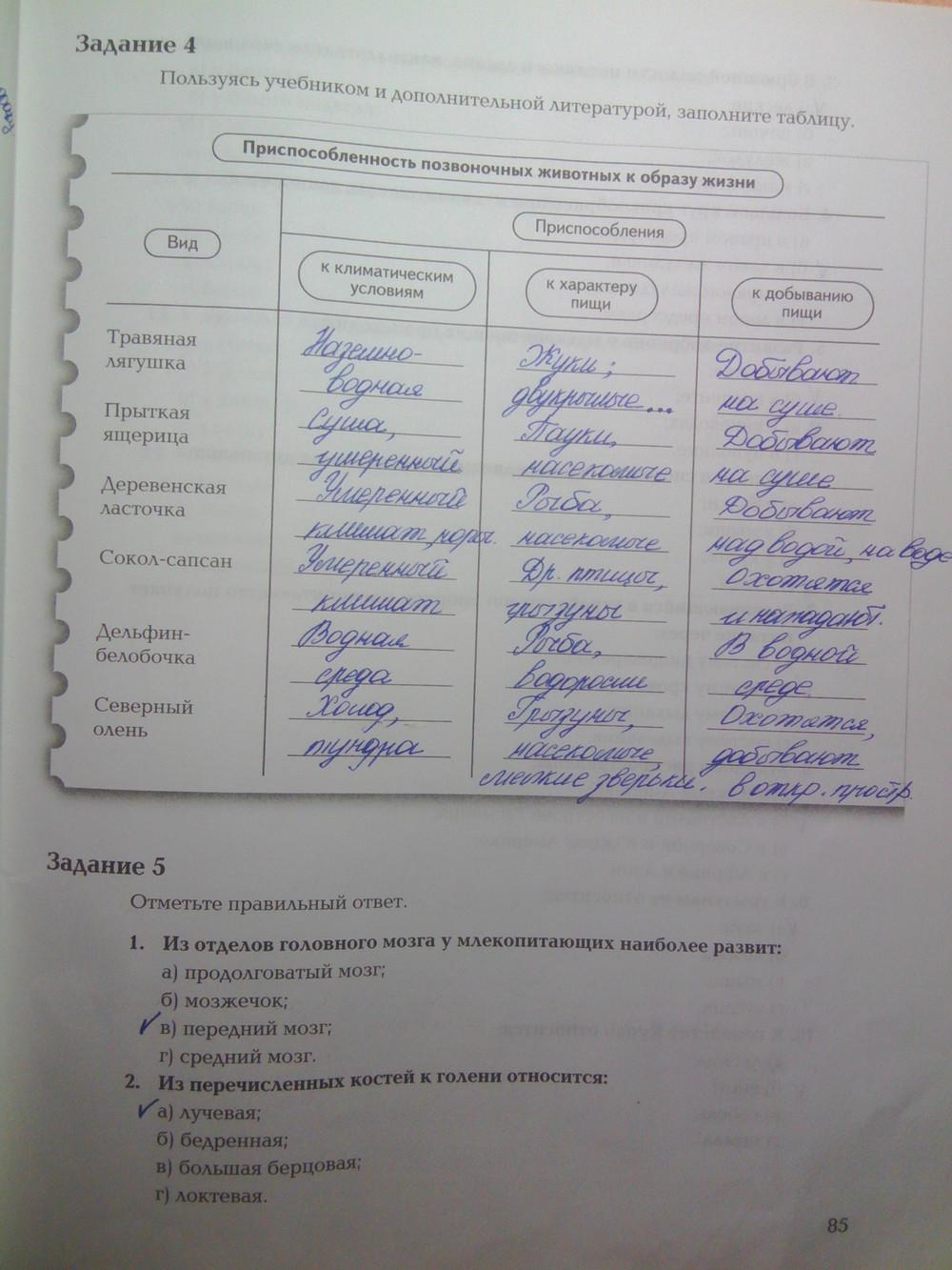 Решебник По Рабочей Тетрадке По Биологии 2 Часть 7 Класс