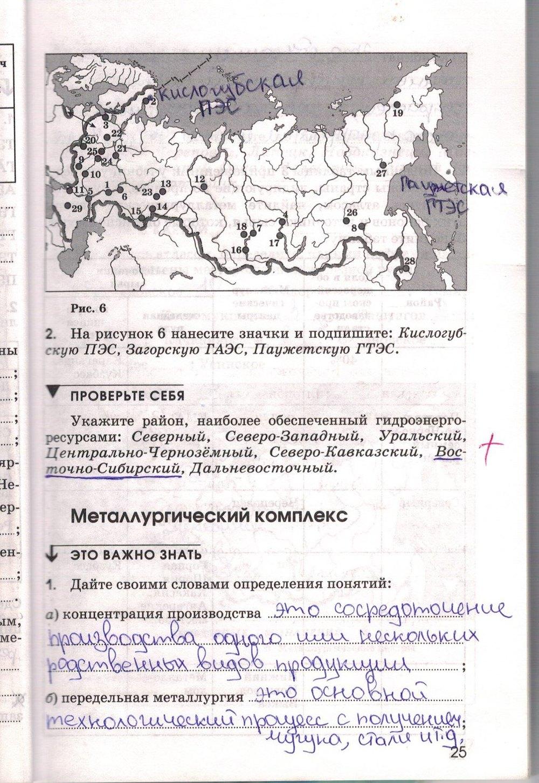 печатная географии 9 по гдз ким тетрадь класс