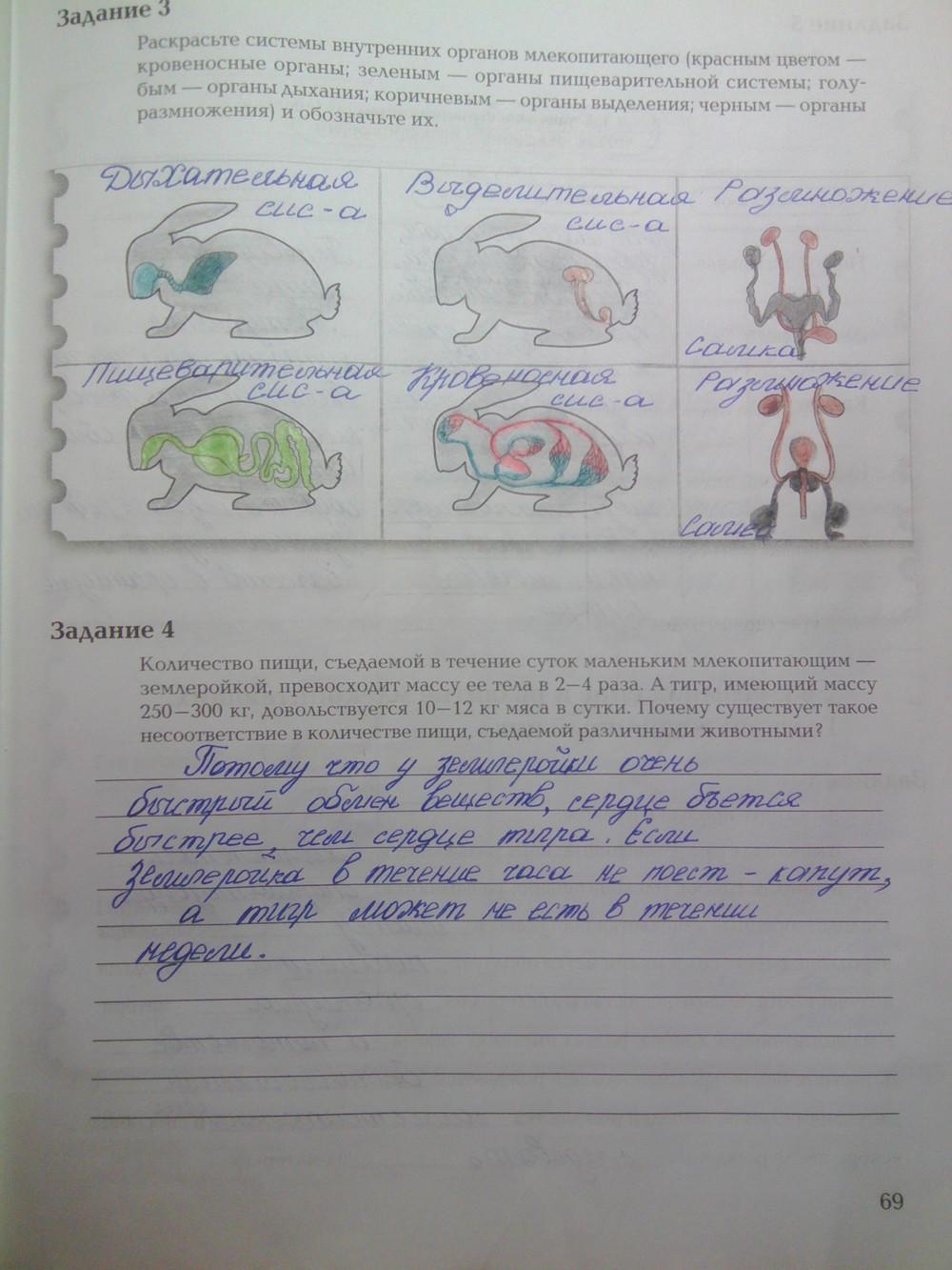 Часть 2 по биологии гдз тетрадь
