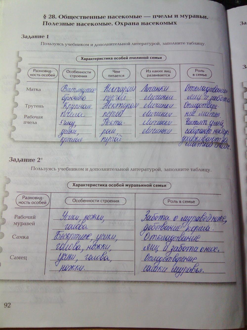 рабочей по по гдз класс тетради 7